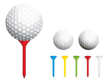 Golf ball and tees royalty free illustration