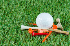 Golf ball and tees Stock Photography
