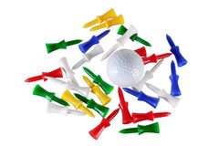Golf Ball and Tees Royalty Free Stock Image