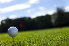 Golf ball. Thumbs up on golf, bright colorful vivid theme Royalty Free Stock Photos