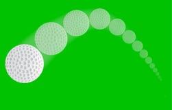 Golf Ball Trajectory royalty free illustration