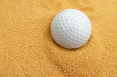 Golf ball in the trap Stock Photos