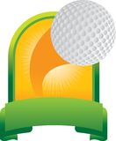 Golf ball trophy Stock Photography