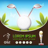 Golf Ball Vector Concept Golf Tournament World Royalty Free Stock Photography