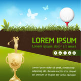 Golf Ball Vector Concept Golf Tournament World Royalty Free Stock Photos