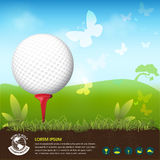 Golf Ball Vector Concept Golf Tournament World Royalty Free Stock Photo