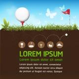 Golf Ball Vector Concept Golf Tournament World Stock Photos