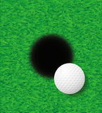 Golf ball vector illustration Royalty Free Stock Photography