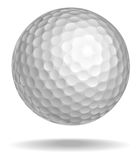 Golf ball. Vector illustration. White ball with shadow Royalty Free Stock Images