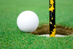Golf Ball view 1 Royalty Free Stock Images