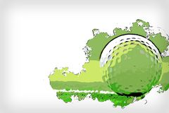 Golf ball on watercolor painting illustration background. vector illustration