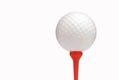Golf ball on white Royalty Free Stock Photo