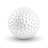 Golf Ball. On white background with clipping path Royalty Free Stock Photo