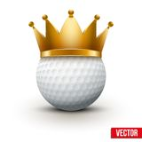 Golf Ball With King Crown Stock Image