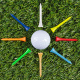 Golf ball star Royalty Free Stock Photo