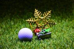 Golf ball on X`mas time