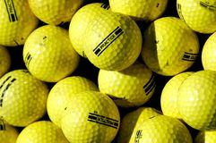 Golf Balls. Bunch of practice golf balls Royalty Free Stock Photography