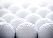 Golf Balls. A grouping of several golf balls. Good sports background Stock Photo
