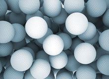 Golf Balls. Group of several golf balls. Abstract sports background Stock Photo