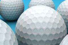 Golf Balls. Close up of the golf balls Royalty Free Stock Photos