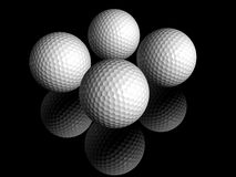 Golf balls. Cool shot of two 3d golf balls Royalty Free Stock Photo