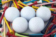 Golf balls royalty free stock photos