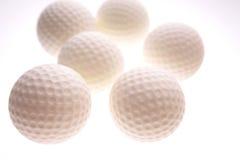 Golf balls. On white background Royalty Free Stock Photos