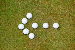 Golf balls arrow Royalty Free Stock Photos