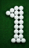 Golf balls as number one Stock Images