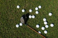 Golf balls background Stock Images