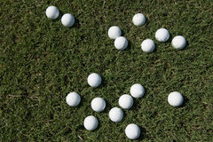 Golf balls background Royalty Free Stock Image