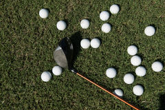 Golf balls background Royalty Free Stock Images