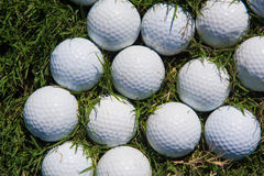 Golf balls background Royalty Free Stock Image