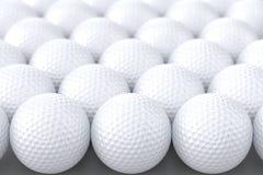 Golf Balls. Background - White Balls Stock Images