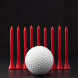 Golf balls on the black background Stock Photo