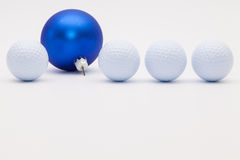 Golf balls and blue Christmas decoration
