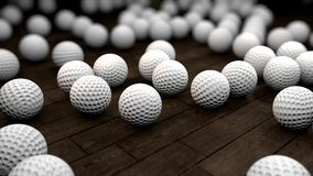 Golf Balls stock footage