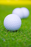 3 golf balls Royalty Free Stock Images