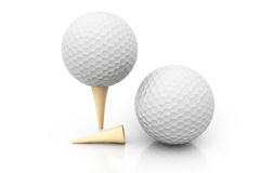 Golf balls. 3d render of Golf balls on  background Royalty Free Stock Photo