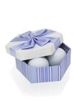 Golf balls in gift box Royalty Free Stock Photos