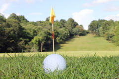 Golf balls in golf course stock photography