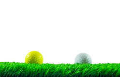 Golf balls on grass Royalty Free Stock Image