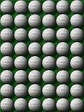 Golf balls on green grass. Heaps of golf balls on a green grass background Royalty Free Stock Photos