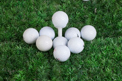 Golf Balls On Green Grass Royalty Free Stock Image
