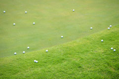 Golf Balls on Green Royalty Free Stock Photo