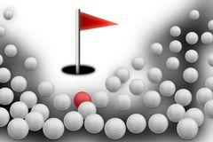 Golf balls with hole Stock Images