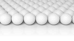 Golf balls. Isolated on white background Royalty Free Stock Photos