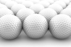 Golf balls. Many golf balls on white Royalty Free Stock Photo