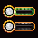 Golf Balls On Green And Black Checkered Tabs Royalty Free Stock Image