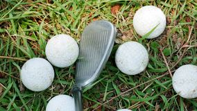 Golf balls that are placed royalty free stock image